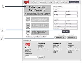 FanFood Referral Screen Mid-Fidelity