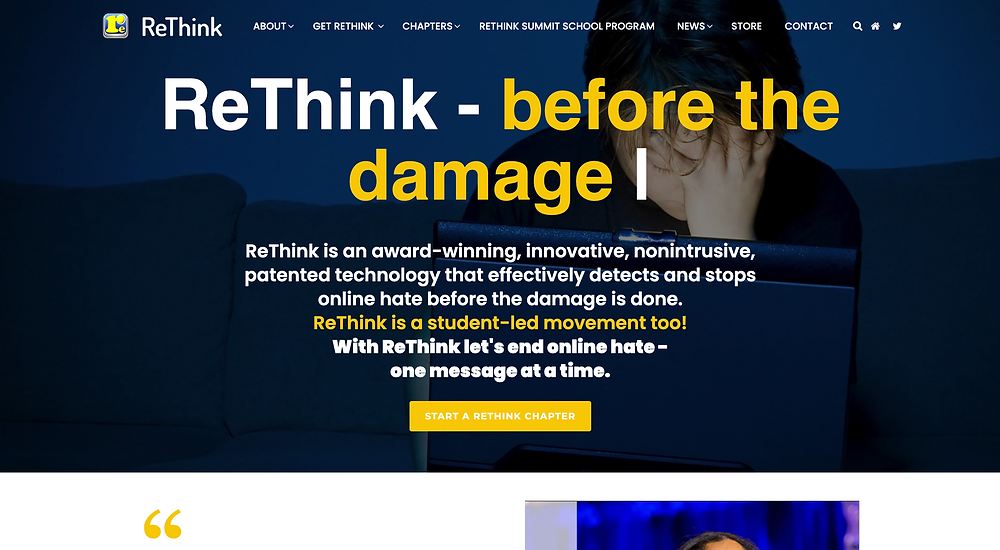 rethink home page
