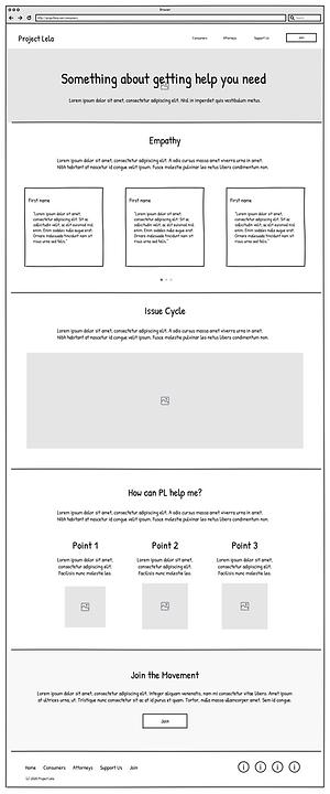 Project Lela employee screen, low-fidelity