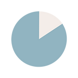 Pie chart showing 84%