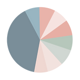 Pie chart showing 39%