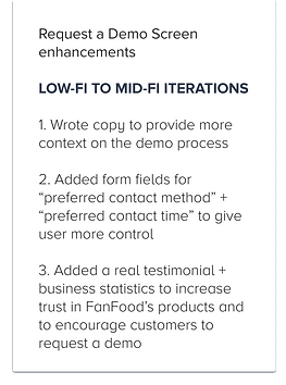 Portfolio - FanFood Demo Low to Mid Desc