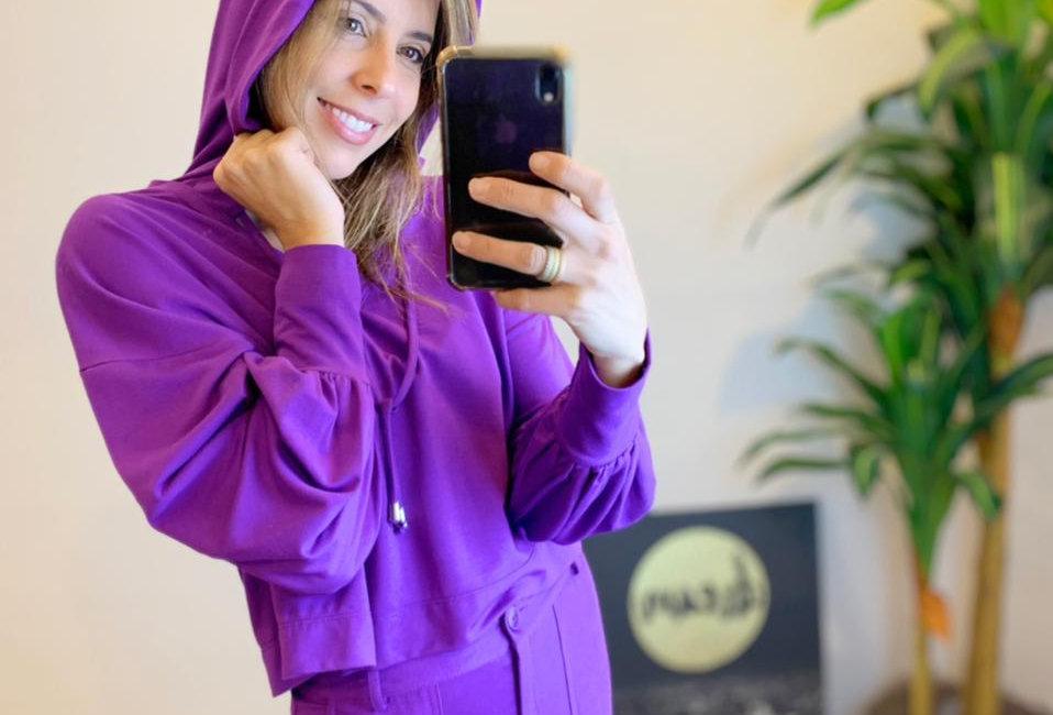 Blusa Capuz Purple