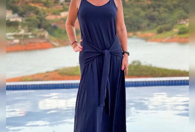 Vestido Faixa Azul