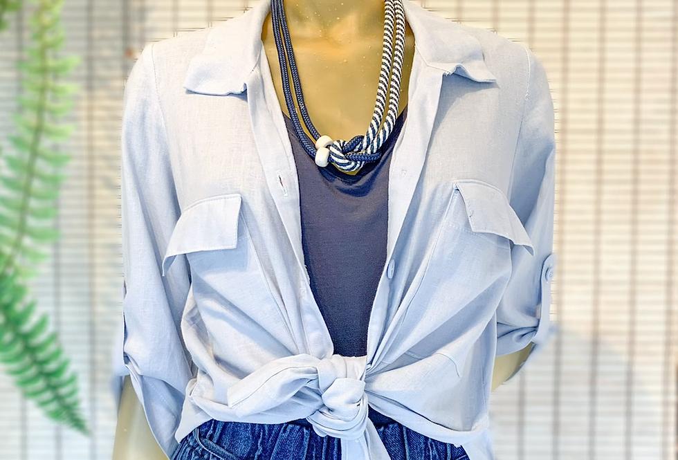 Camisa Linho Azul