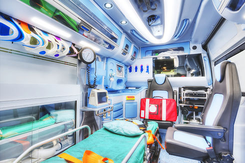 Interior of an ambulance. HDR version. H