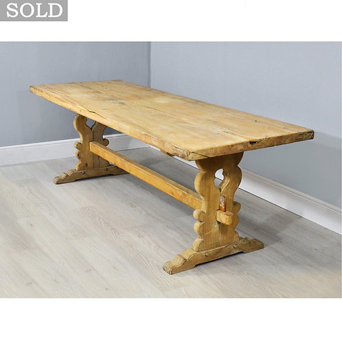 Large Rustic Pine Plank Top Country Farmhouse Table - 230cm - 10 Seater