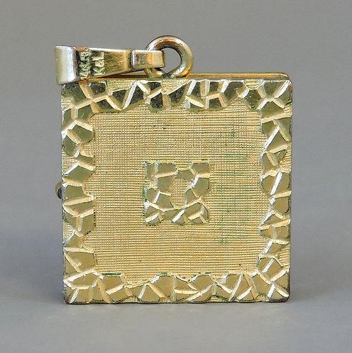 14ct Gold Double Photograph Locket Pendant 5.0 grams