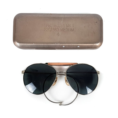 RAF Issued Aviator Sunglasses MKII 22c / 1369 Medium with Case