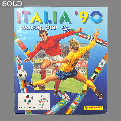 Vintage 1990 Italia World Cup Sticker Book - Complete - Panini