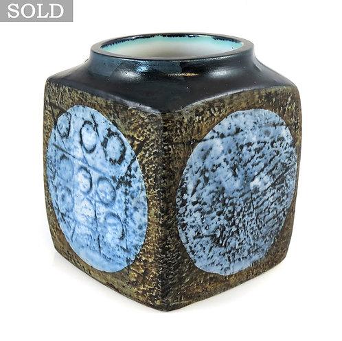 Vintage TROIKA marmalade pot. Signed MP - MARYLIN PASCOE