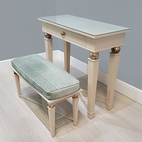 Antique Style Dressing Table & Stool / Side Table & Hall Bench