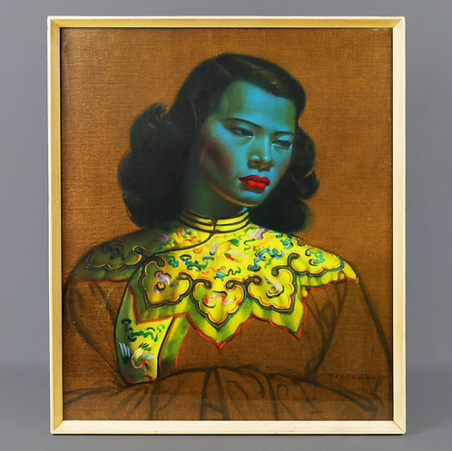 Vladimir TRETCHIKOFF 1950's Chinese Girl Original Print