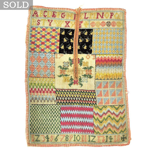 Stunning Rare Antique Early 18th C. Sampler 1703 - Museum Quality!