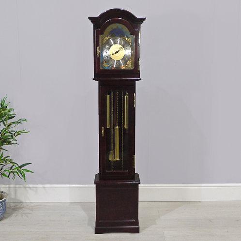 Antique Style Mahogany AJK SK025 Longcase Clock with Kieninger Interclock