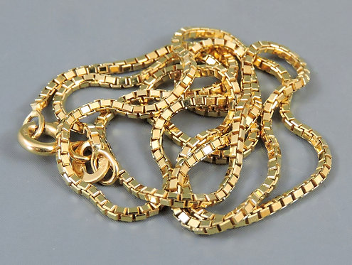 18ct Gold Fine Necklace, 40cm long, 4.7g - Made in Italy by Samuel Aaron