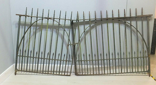 Impressive Pair Of Antique Heavy Iron Country House Spiked Estate Gates