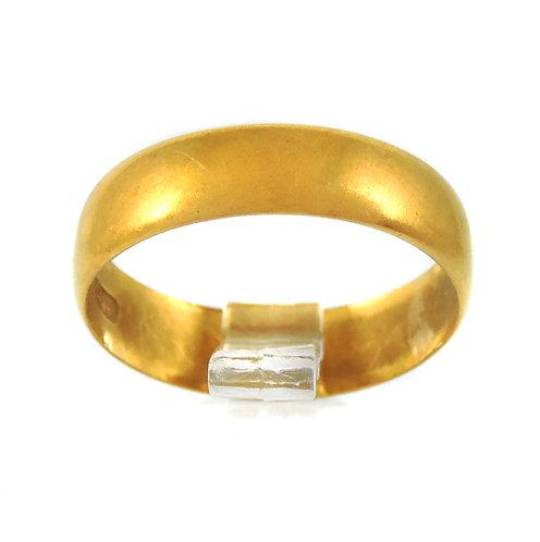 Good Edwardian 22ct Wedding Ring - 3.1g - Size M/N - Birmingham 1901