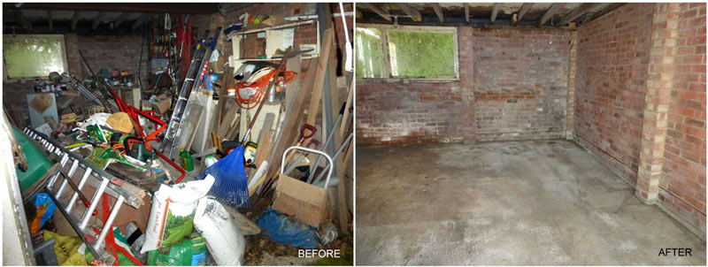 Large garage clearance