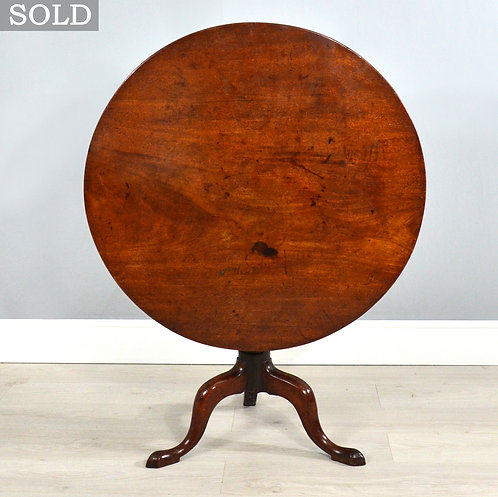 Antique Georgian Mahogany Tilt-Top Tripod Table