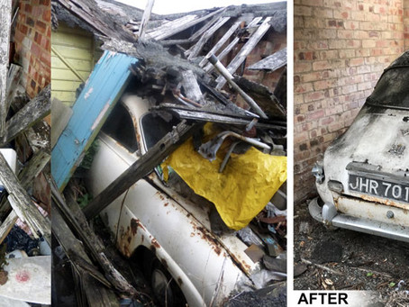 Collapsed garage clearance and car recovery