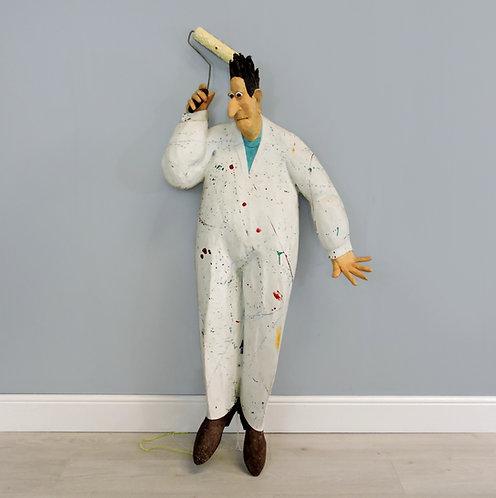 Stephen Hansen (b.1950) Unique Whimsical Papier Mache sculpture -A Large Painter