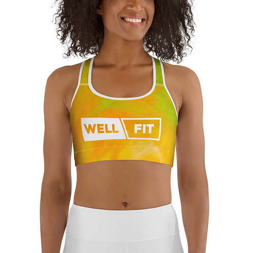 WELLFIT Sports Bra Banana