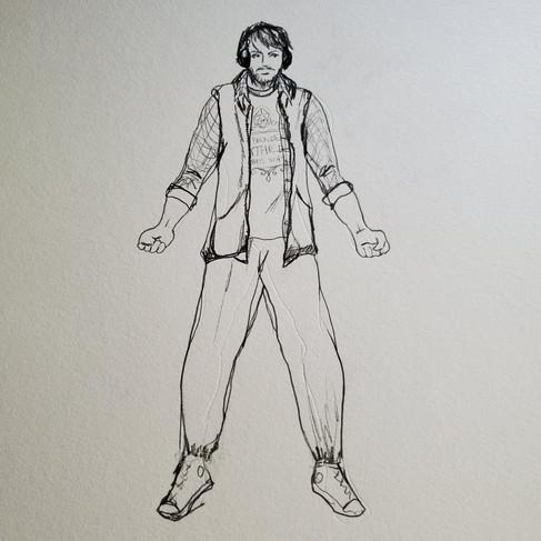 Chuck the DM Drawing