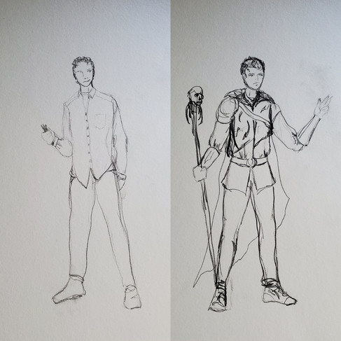 Steve and Steve the Mage Drawings
