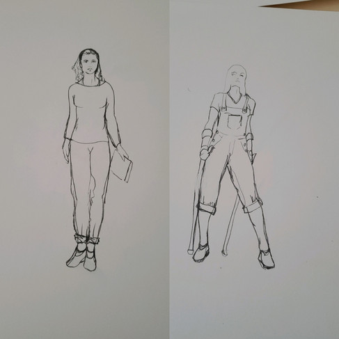 Lilly and Kelly Drawings