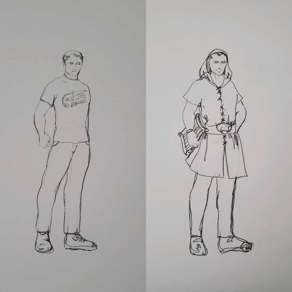 Miles and Miles the Bard Drawings