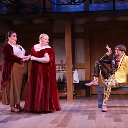 Malvolio Flirts with Olivia