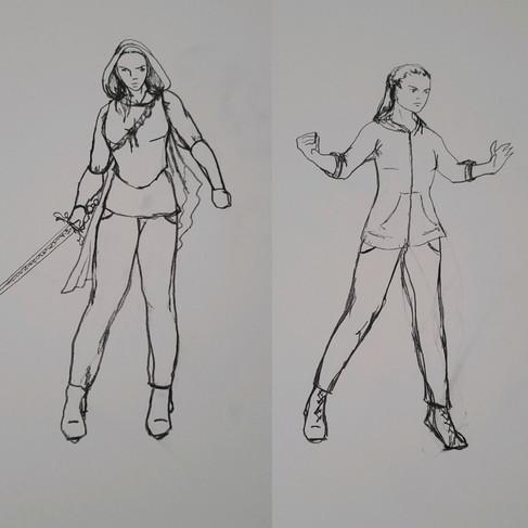 Tilly / Tillius the Paladin Drawings