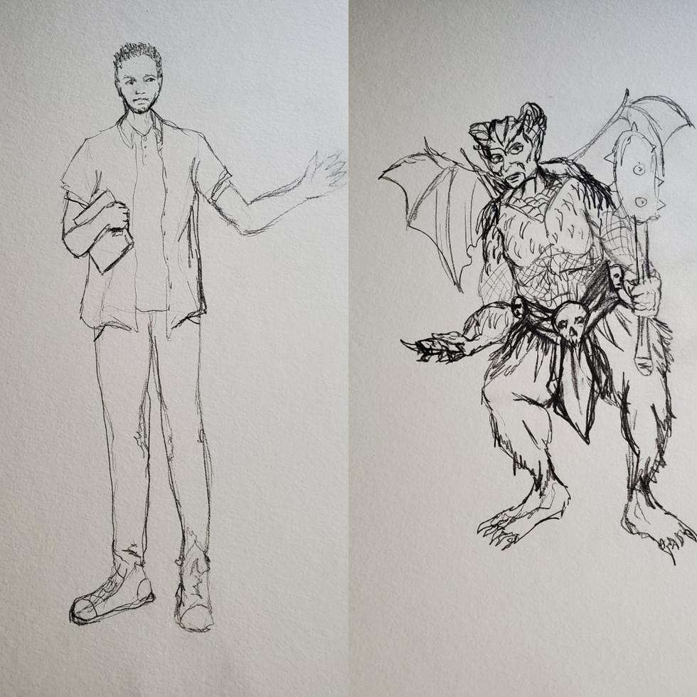 Ronnie / Orcus Drawings