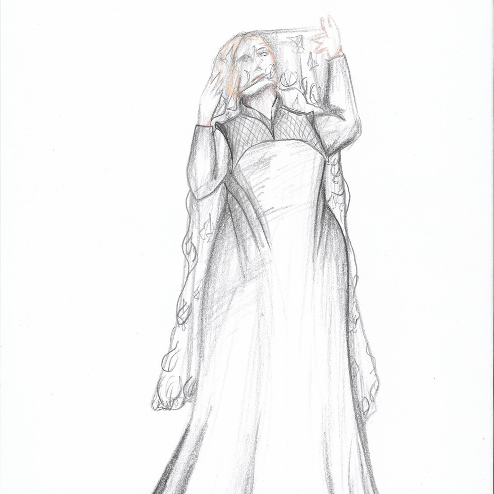 Olivia in Mourning Rendering