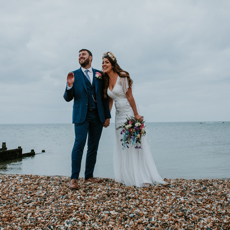 Aaron + Sara ~ A seaside wedding at East Quay, Whitstable