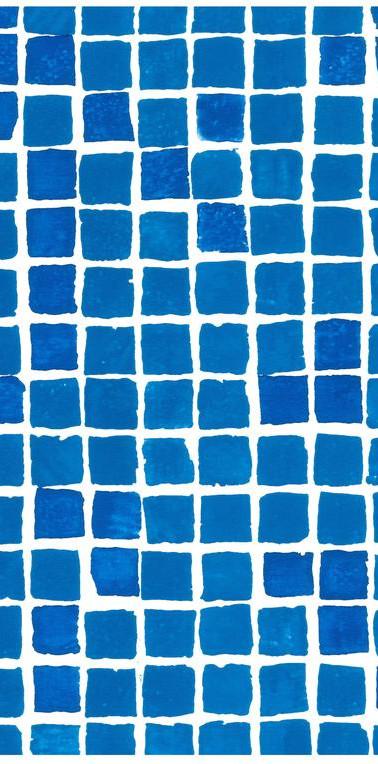 Mönstrad Blå mosaik