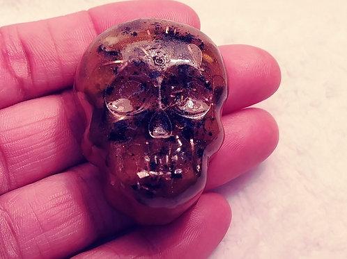 Orgone Energy Skull - Royal Gold
