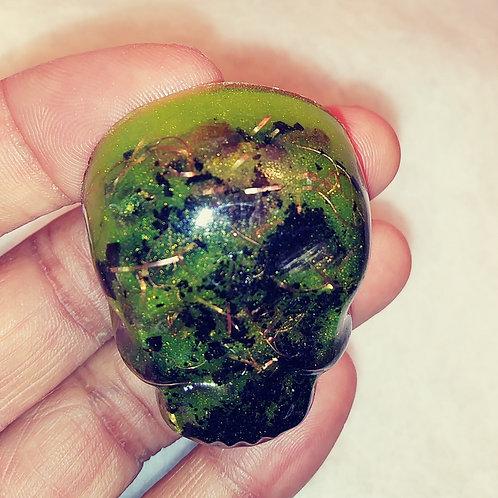 Orgone Crystal Skull  - Green Flash