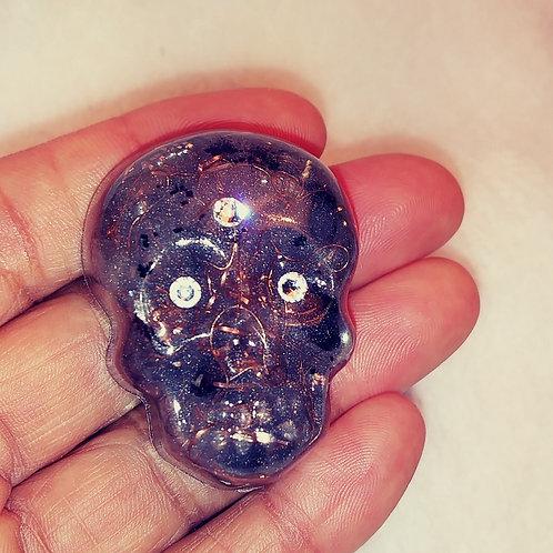 Orgone Crystal Skull - Sterling Silver Tint