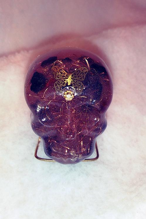 Orgone Crystal Skull -Rose Gold