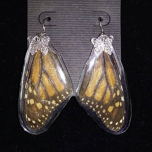 Monarch wings w/silver charm