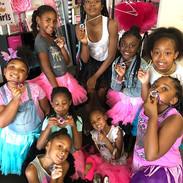 Showing off their GLAM POWER (confidence) necklace! _#girlpower #superpower #confidence #glamdolls #kidsspa #summerprogram #glamdollssalonsp