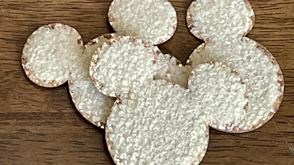 """Sand Mickey Glitter Varsity Patch 2"""""""