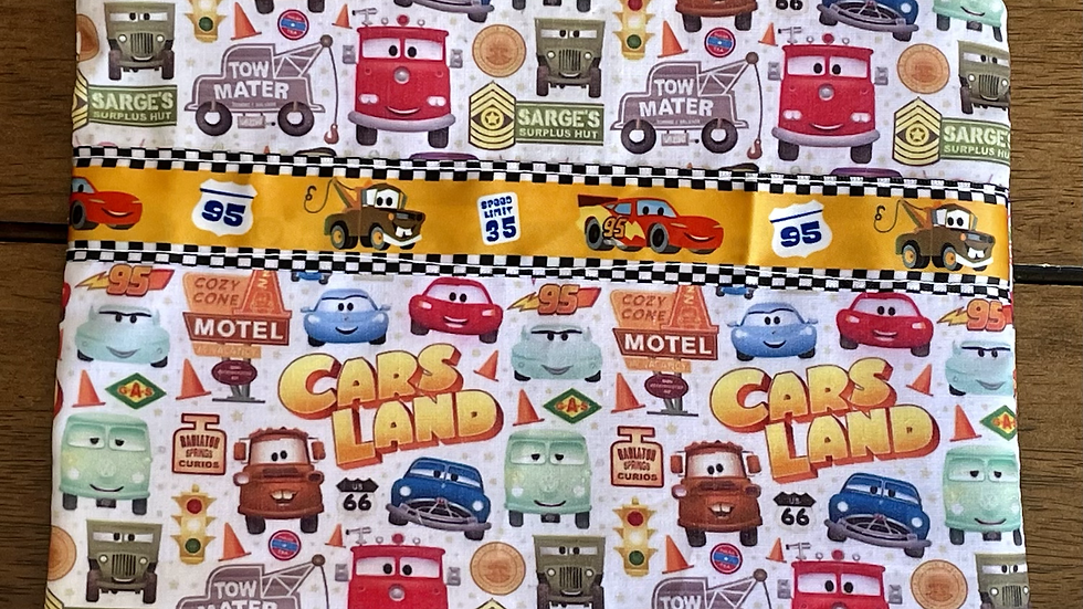Cars Land Zipper Pouch with Ribbon