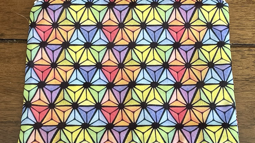 "Rainbow Epcot Zipper Pouch (8.5""x6.5"")"