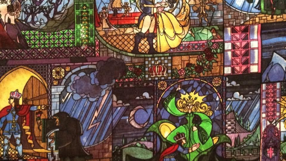 Beauty & the Beast Stained Glass