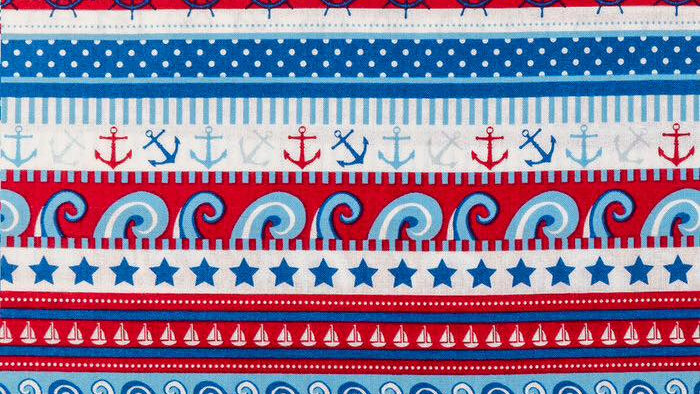 Red, White and Blue Nautical