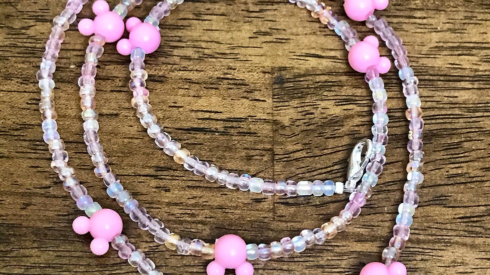 Pretty in Pink Mask Chain