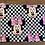 """Thumbnail: Minnie Mouse Checkered Zipper Pouch (""""7.5x8.5"""")"""